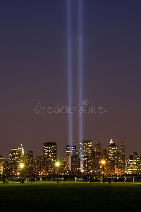 11城市轻的纪念新的9月约克 免版税库存照片