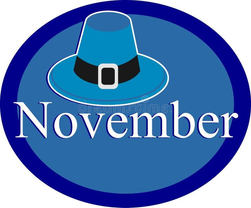 11月 向量例证