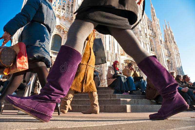 11 аркада милана Италии duomo 2009 -го в декабре стоковое изображение rf