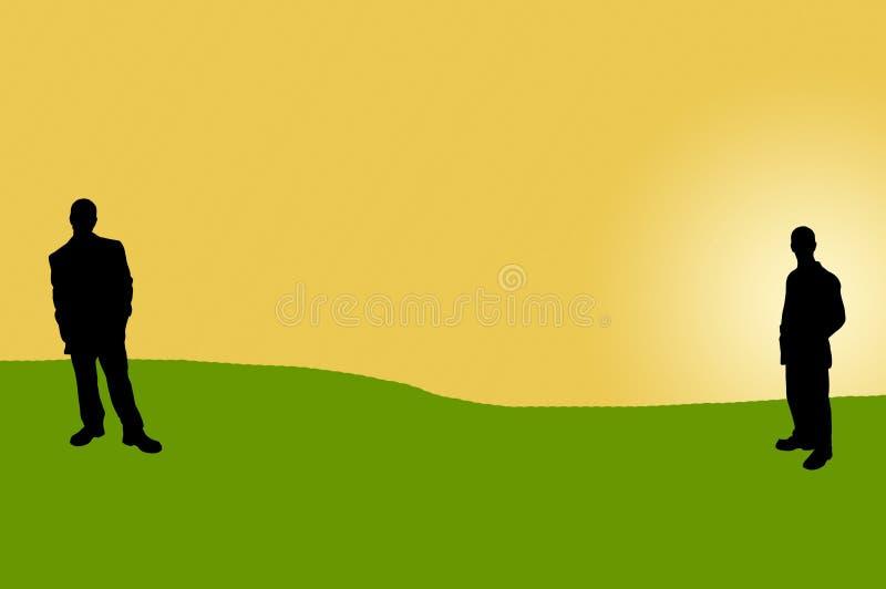 11 бизнесмены теней иллюстрация штока