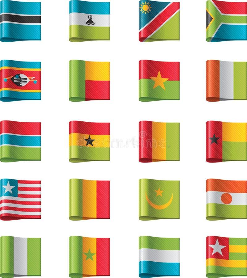 11 флаг Африки разделяют вектор иллюстрация вектора