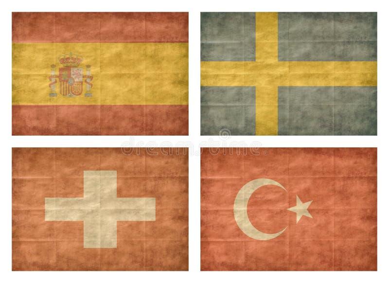 11 13 krajów europejczyka flaga ilustracja wektor