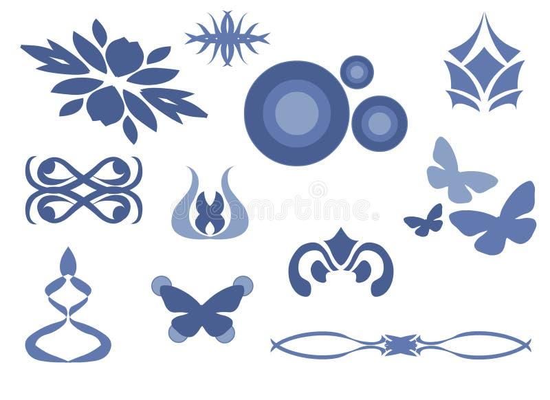 11 abstrakta wektora royalty ilustracja