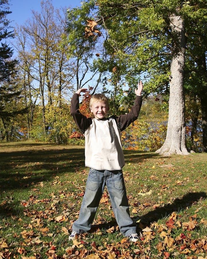 11 autumn child royaltyfria foton