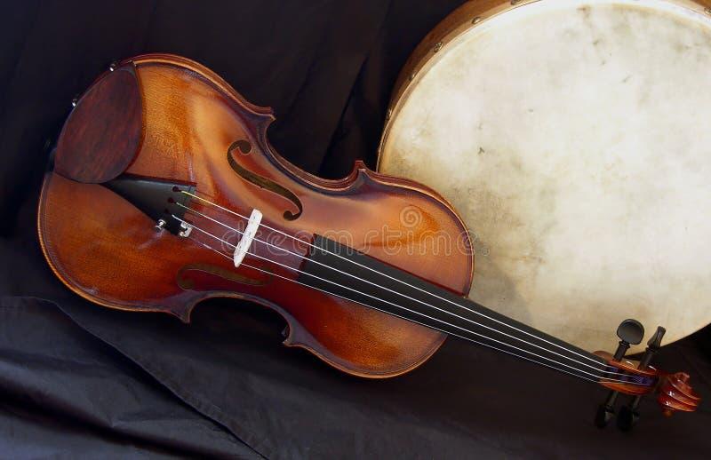 11 bodhran skrzypki obrazy stock