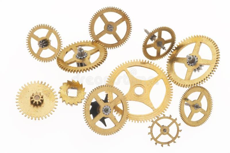 11 cogwheels starych zdjęcia stock