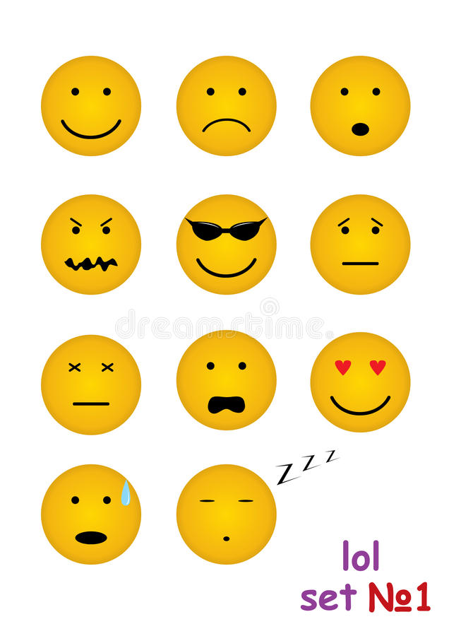 11 funny faces for chat royalty free illustration