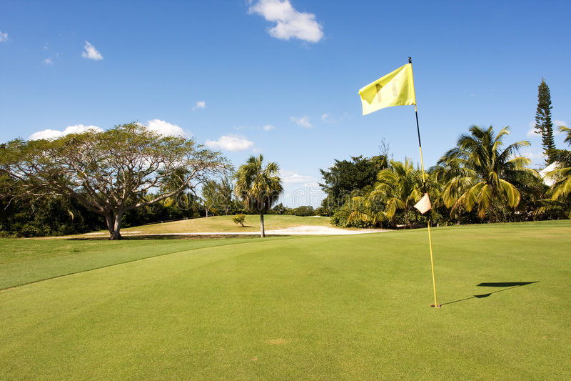 11 golfowa dziura zdjęcie stock