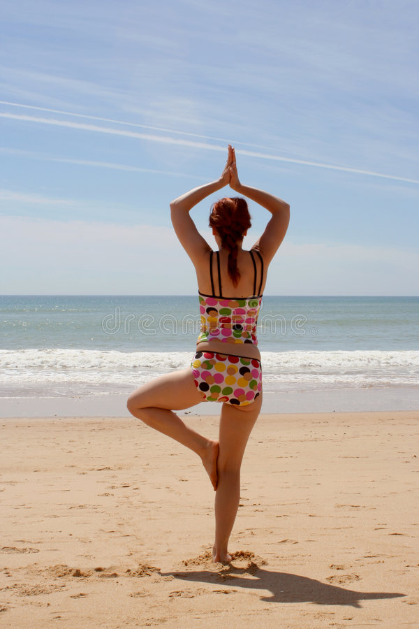 11 Jogi Na Plaży Zdjęcie Royalty Free