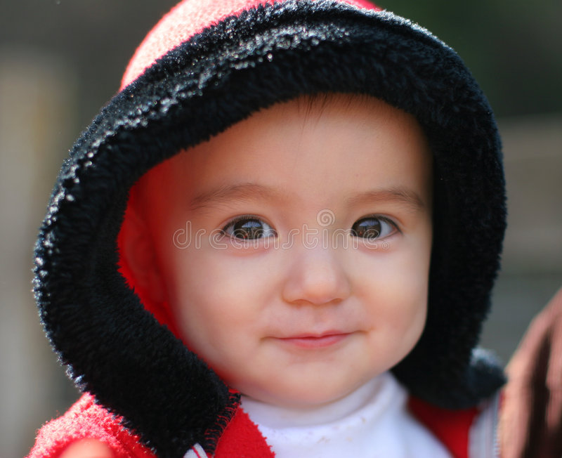 11 mese della neonata immagini stock