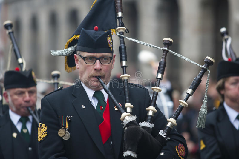 11 November 2011 - Ypres Surrey Pipes & Drums Editorial Image