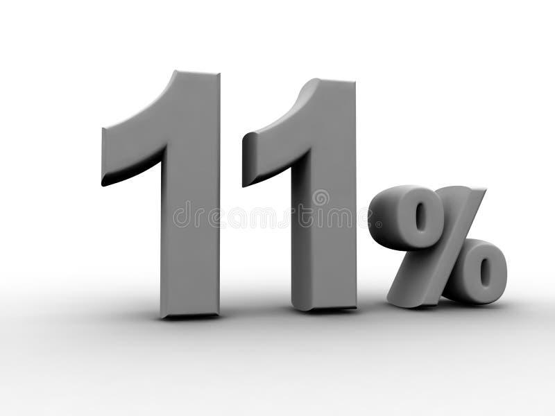 11 pour cent illustration de vecteur