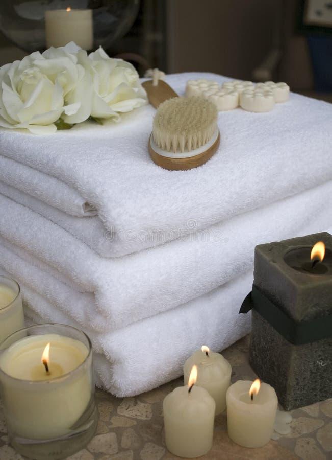 11 ręcznik w spa. obraz royalty free