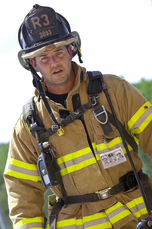 11 sep, 2011 - beklimt de HerdenkingsTrede van de Brandbestrijder stock foto