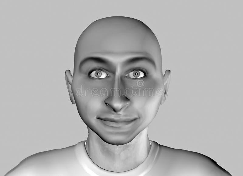 11 zabawna twarz royalty ilustracja