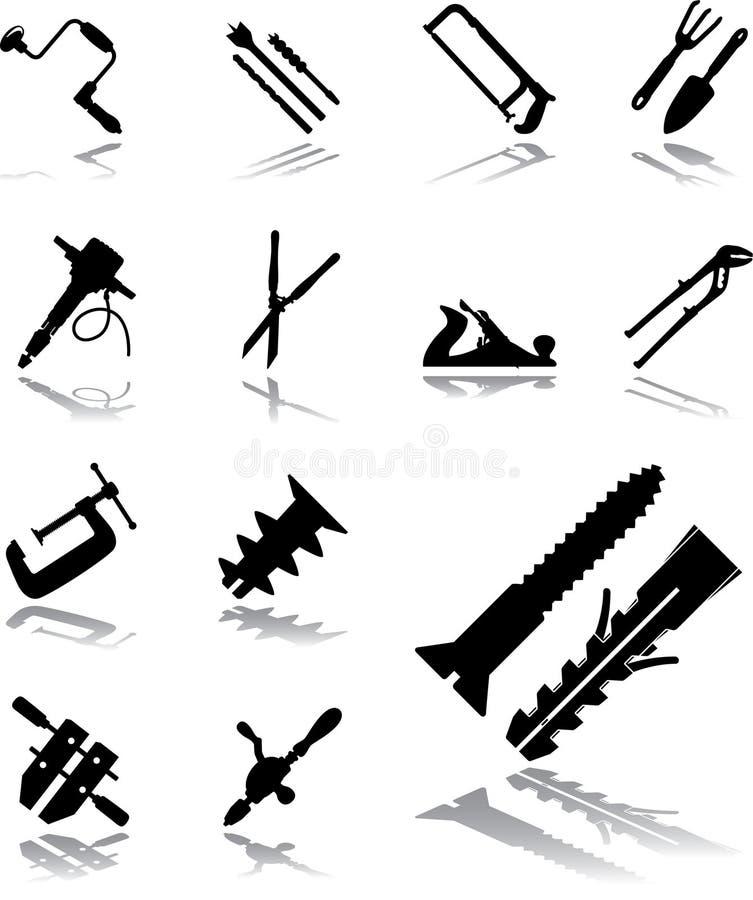 Download 112 Outils Réglés Par Graphismes Illustration de Vecteur - Illustration du activité, retrait: 8669328