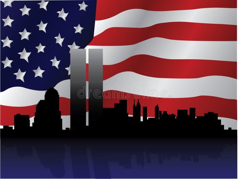 11th иллюстрация патриотический сентябрь иллюстрация штока