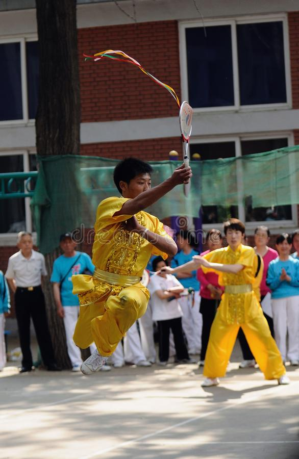 The 11th China Kongfu taiji ball (Rouliqiu) games royalty free stock image