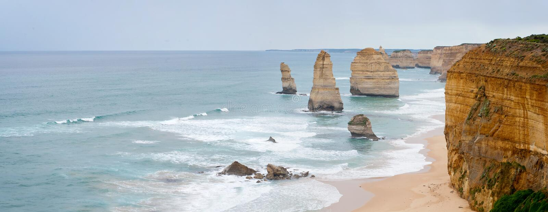 12位传道者澳洲极大的海洋路 库存图片