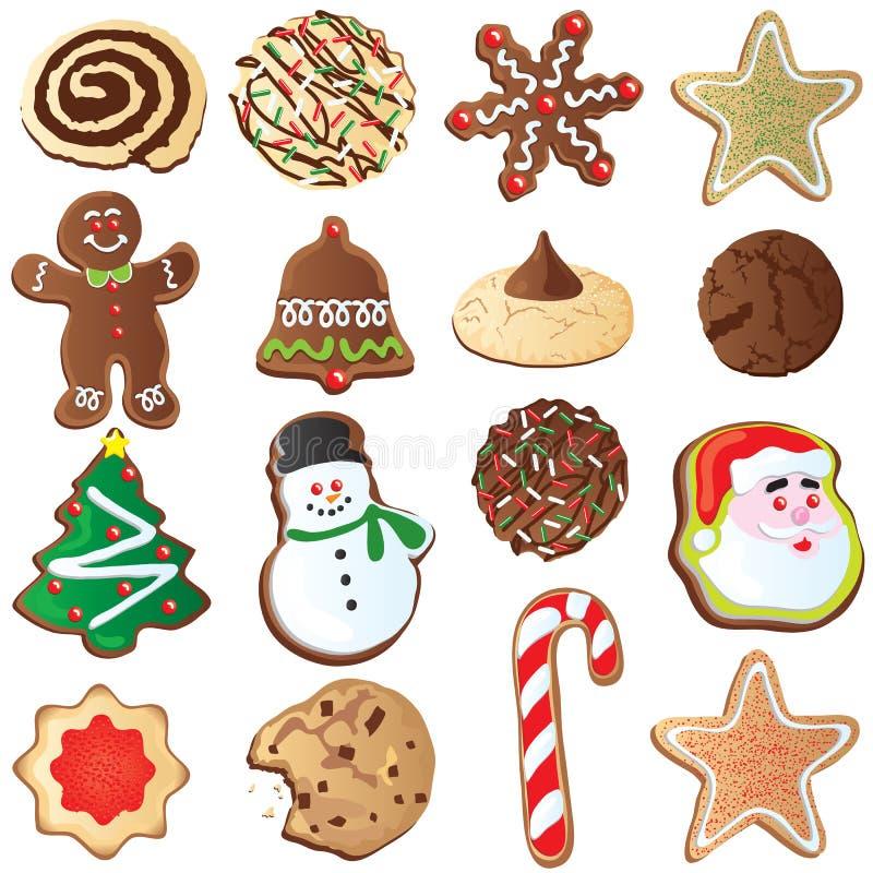 12圣诞节曲奇饼逗人喜爱的日 向量例证