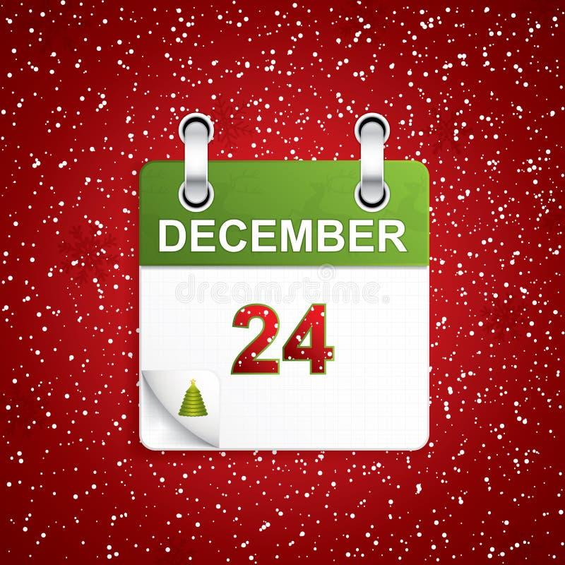12月节假日日历 库存例证