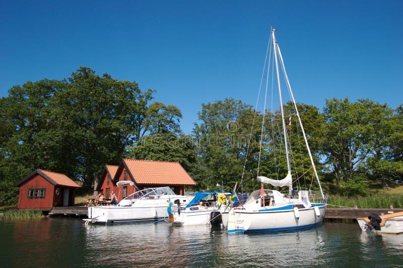 12 łódź do doku Szwecji obrazy royalty free