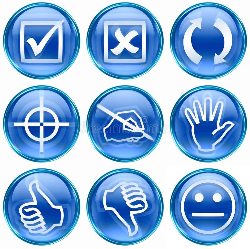 12 μπλε σύνολο εικονιδίων απεικόνιση αποθεμάτων