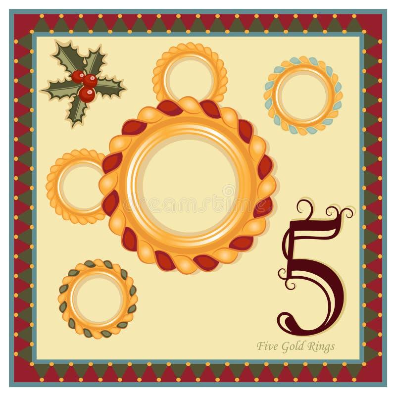12 Рождества бесплатная иллюстрация