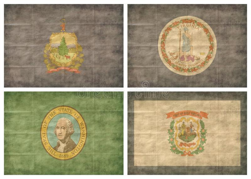 12/13 US state flags royalty free stock photos