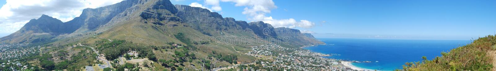 12 Apostles with Table Mountain and Camps Bay royalty free stock photos