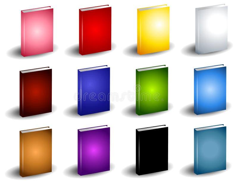 12 bunte Buch eBook Abdeckungen lizenzfreie abbildung