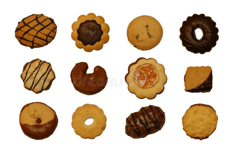 12 ciasteczka zdjęcia royalty free