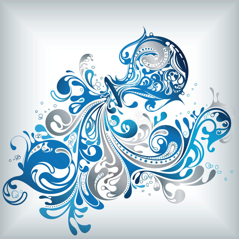12 constellations d'aqarius illustration stock