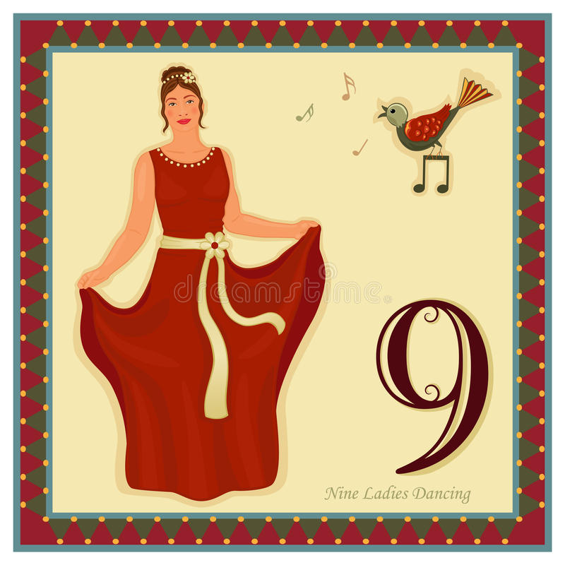 The 12 Days of Christmas stock illustration