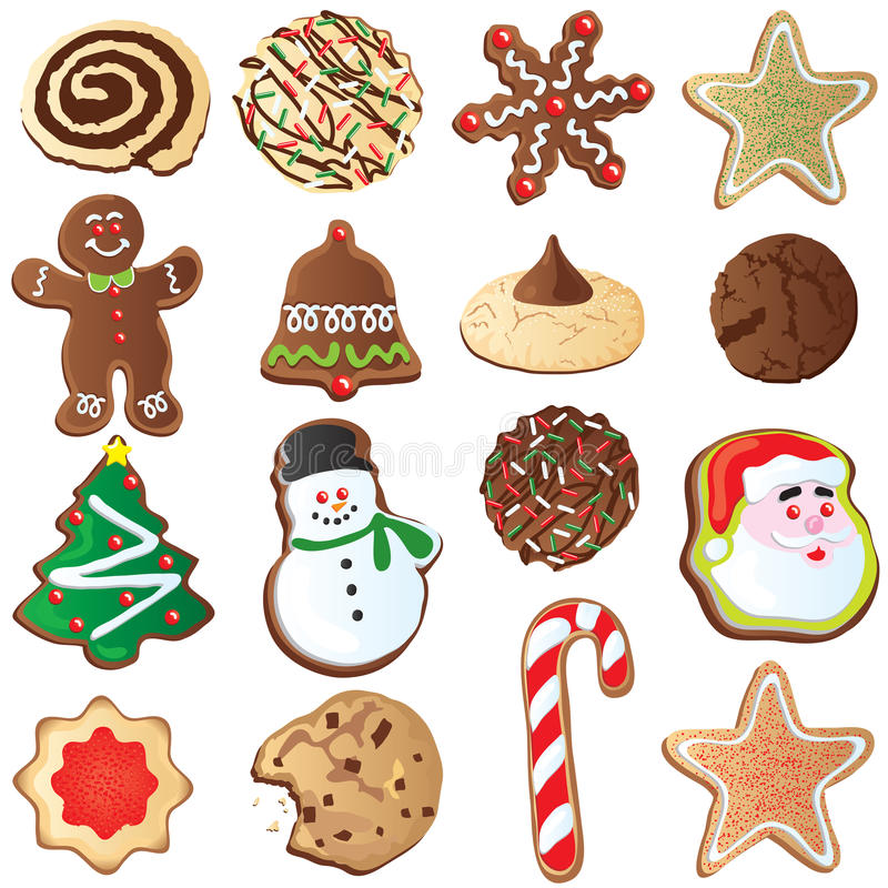 Free 12 Days Of Cute Christmas Cookies Royalty Free Stock Photo - 11796185