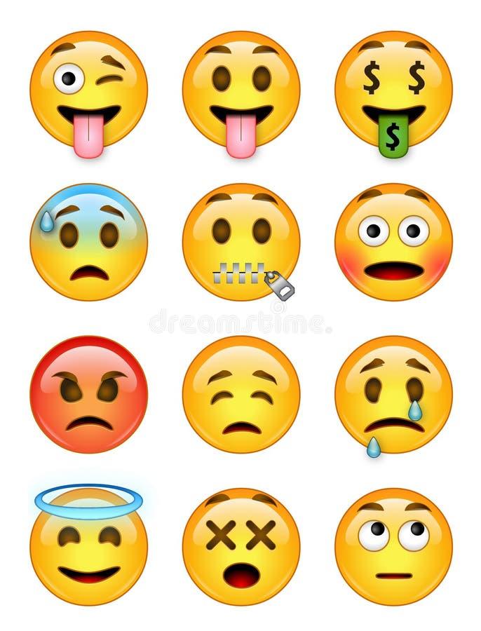 Free 12 Emoticons - Pack 2 - EPS - Illustrator Stock Photos - 70630693