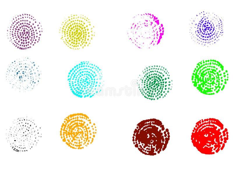 12 gewundene grafische Elemente stock abbildung
