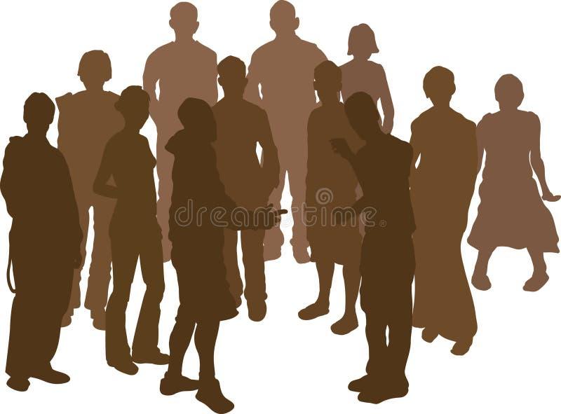 12 grupy przyjaciół ilustracji