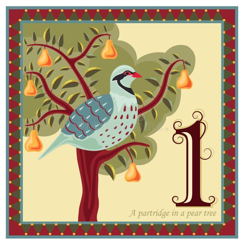 12 juldagar royaltyfri illustrationer