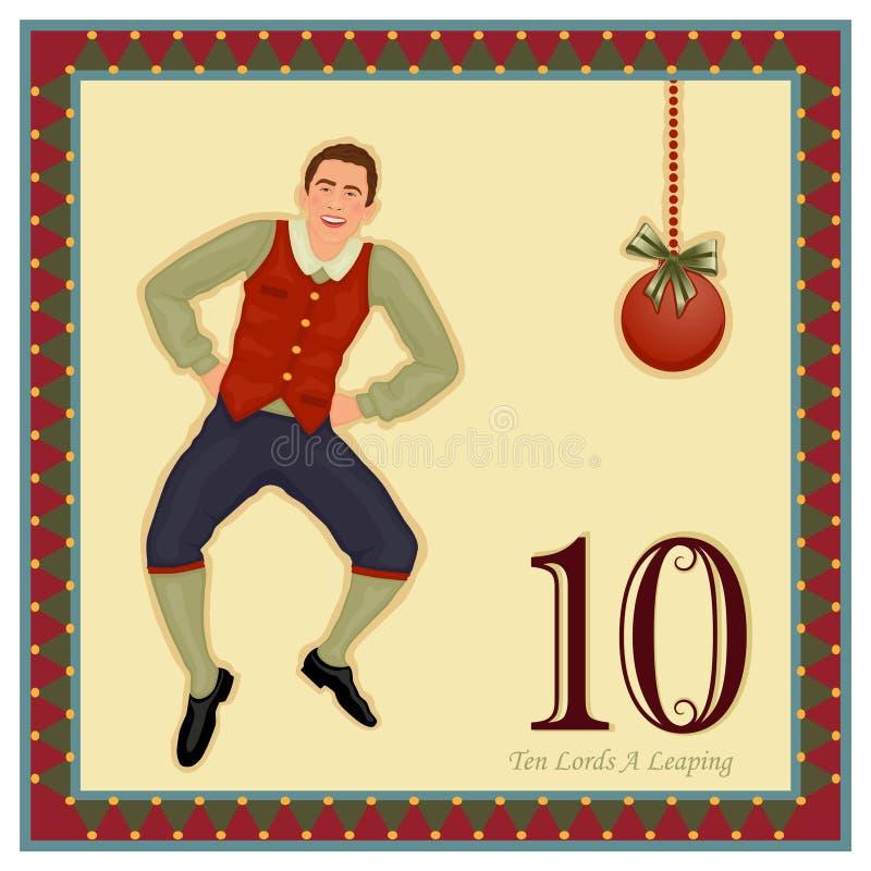 12 juldagar vektor illustrationer