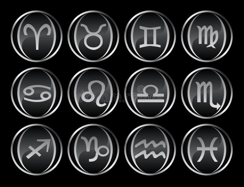 12 noirs/boutons gris illustration libre de droits