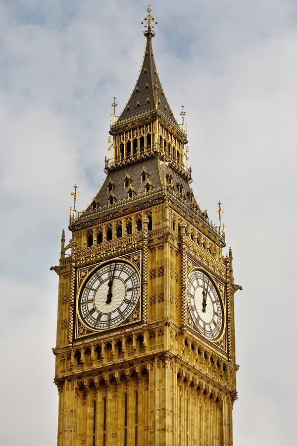 12 op de Big Ben royalty-vrije stock afbeelding