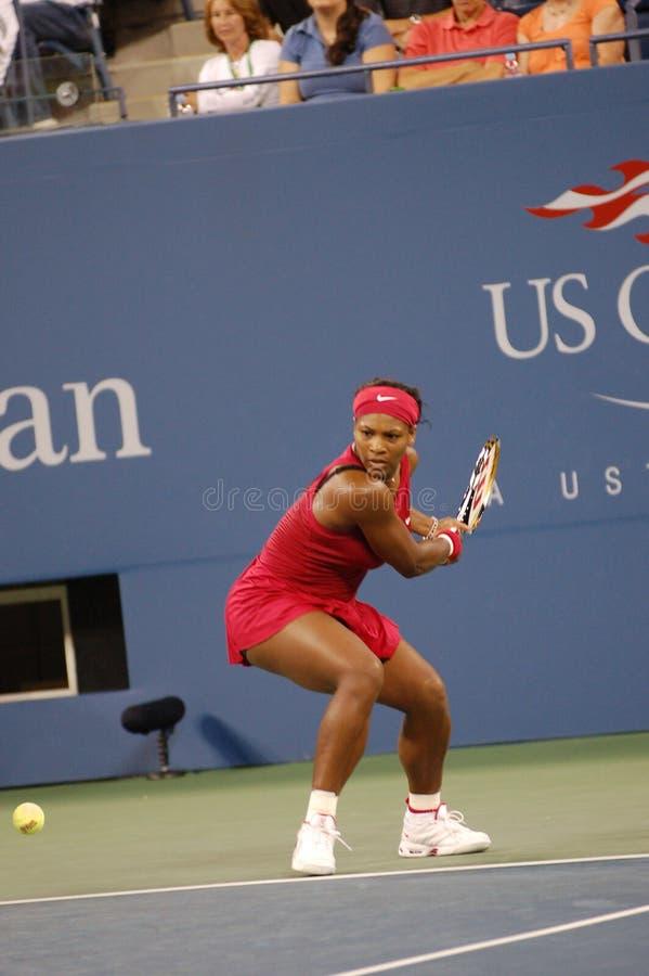 12 otwarte 2008 Serena Williams, zdjęcie stock