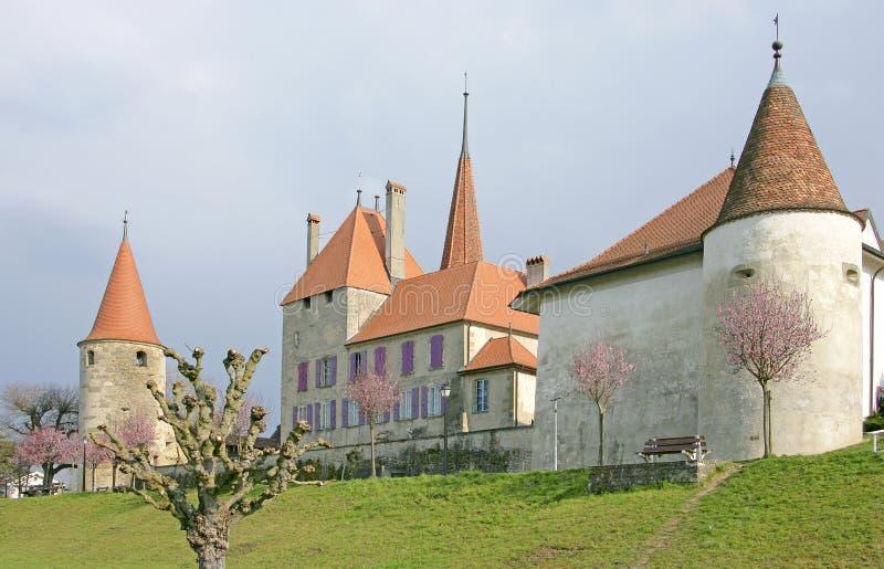 12 slottschweizare royaltyfri bild