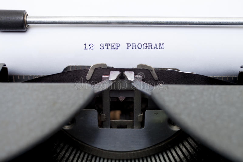 Download 12 Twelve Step Program Typed On An Old Typewriter Stock Image - Image: 25485749
