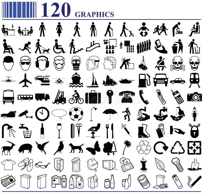 120 Grafiken lizenzfreie abbildung