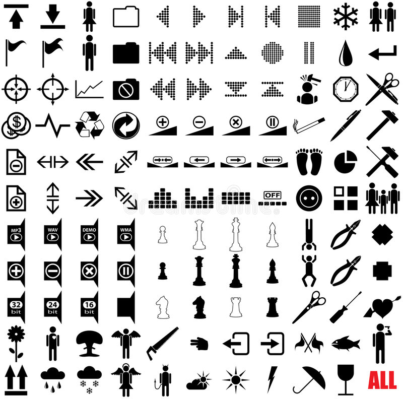 Download 121 vector pictograms. stock vector. Image of music, flower - 6878245