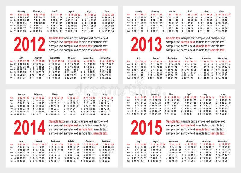 1215 2012个日历年度 皇族释放例证