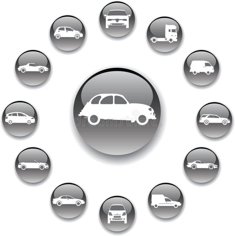 127 автомобилей кнопок установили бесплатная иллюстрация