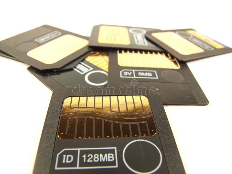 128 cartes de mémoire de mi-bande photographie stock libre de droits